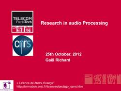 Slides about research on audio processing